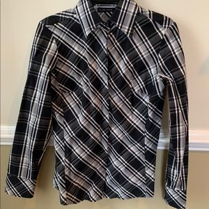 New York and Co. stretch dress shirt top Small